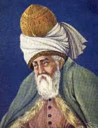 Portret dat Rumi moet voorstellen, de grote Soefi-dichter