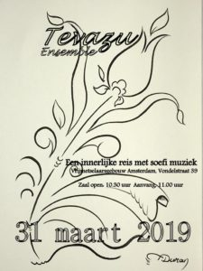 Flyer Soefi-muziek in Amsterdam 31 maart