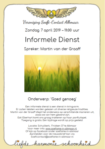 Flyer informele dienst 7 april 2019