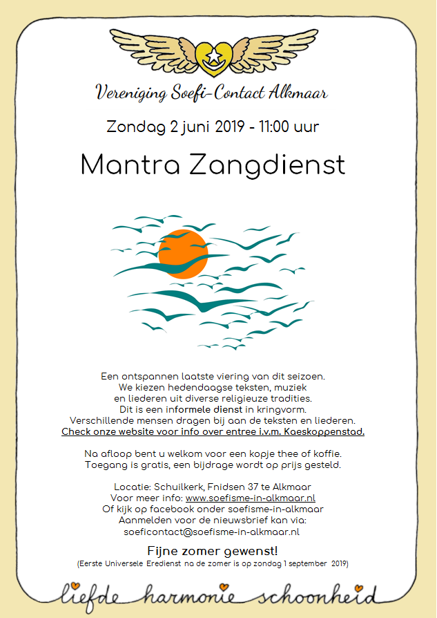 Flyer Mantrazangdienst 2 juni