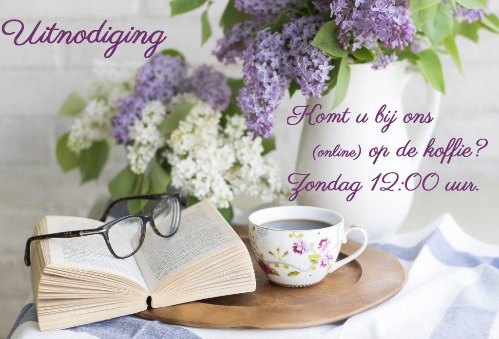 Foto voor uitnodiging voor een online koffierondje met nagesprek.